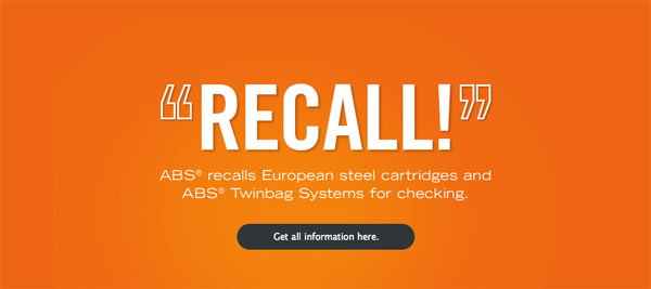 40,000 Airbags and 72,000 Cartridges Checked by ABS in Recall Drama