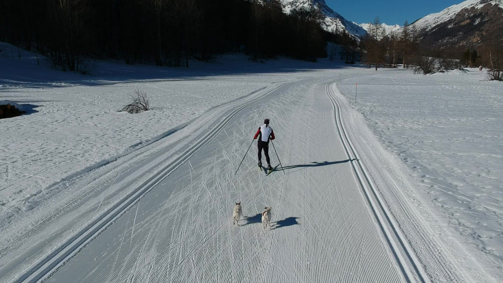 Cross Country skating skiing Serre Chevalier