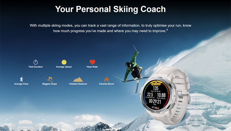 HONOR Watch GS Pro smartwatch Review ski mode