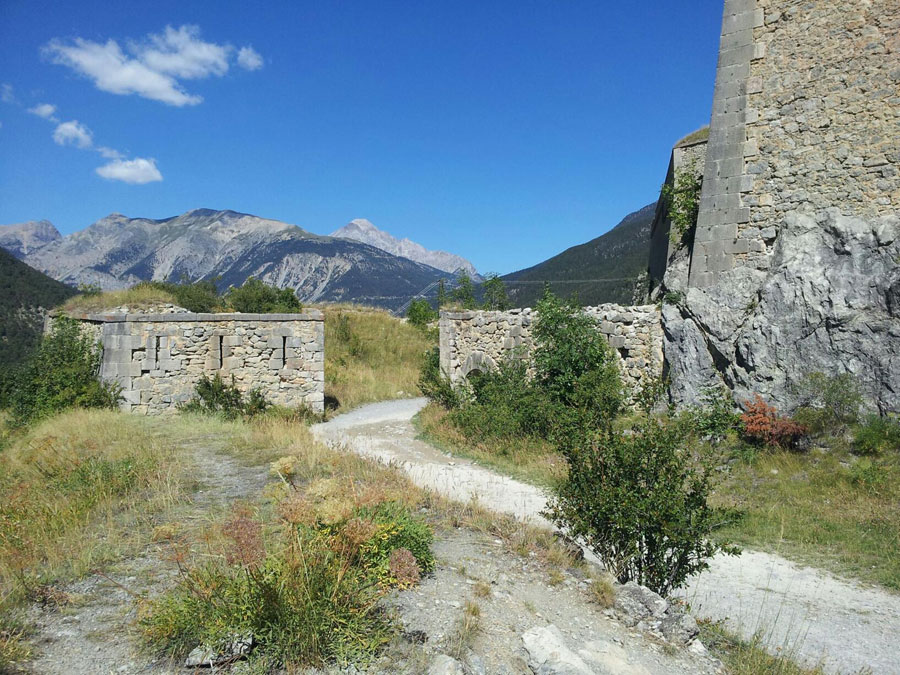 Briancon old military road to Fort Gondran Montgenevre