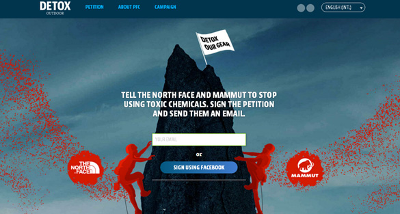 Greenpeace Targets Mammut and North Face