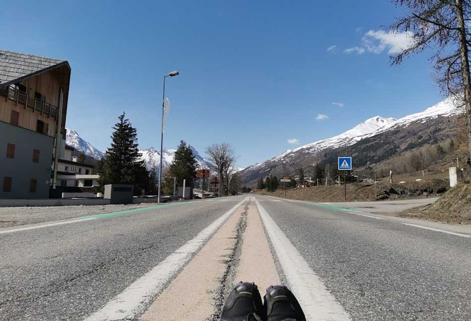Empty road in Serre Chevalier